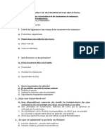 Cuestionario de Instrumentacion Industrial 2 Parcial