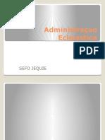 Administraçao Ecleiastica prototipo