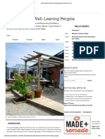 How to Build a Wall-Leaning Pergola _ How-Tos _ DIY