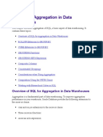 20 SQL for Aggregation in Data Warehouses