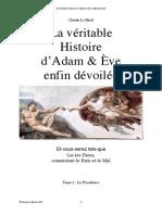 Le Moal Claude - La Véritable Histoire d'Adam & Ève enfin dévoilée