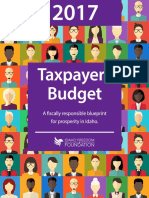 2017 Taxpayers Budget by Idaho Freedom Foundation