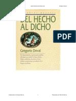 Del Hecho Al Dicho - Gregorio Doval