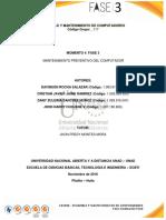 Ensamble y Mantenimiento de Computadores Informe Ejecutivo Fase 3