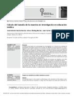 Cálculo del tamaño de la muestra en investigación en educación médica