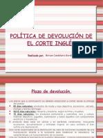 Política Devolución El Corte Inglés.