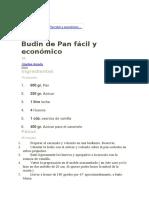 Budin de Pan Fácil y Económico