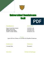 128141073 Aporte Del Sector Turismo a La Economia de La Republica Dominicana