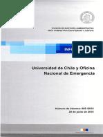 Informe Final 669-15 Universidad de Chile y Oficina Nacional de Emergencia - Auditoría a Las Transferencias Entregadas Al Centro Sismológico Nacional - Junio 2016