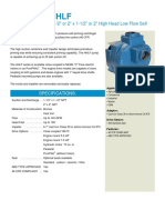 MP Flowserve High Head Low Flow (HHLF) Self Priming Centrifugal Pumps (Brochure)