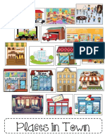 Places in Town Clipart