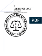 New Mexico Open Meetings Act Compliance Guide 2015