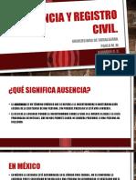 Ausencia y Registro Civil en el estado de Jalisco