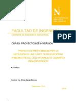 Modelo Proyecto Factibilidad Arandano Fresco Para Exportacion Guavc