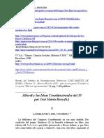 Alberdi y La Constitucion Del 53