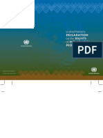 Un Declaration of Rights of Indigenous People