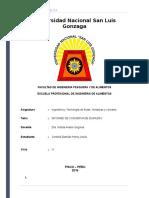 Informe de Conserva de Durazno