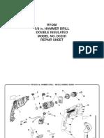 Rotomartillo Ryobi D620H MX (5 Octavos de Pulg) (109260-e)