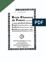 Debussy - (1904) - L 102 - Chansons De France - Para Canto Y Piano.pdf