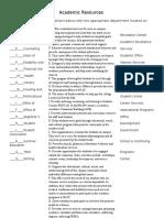 academic resources worksheet  1