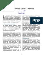 Reporte Sobre El Sistema Financiero a Noviembre de 2015