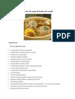 Receta de Sopa de Bolas de Verde