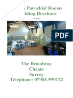 Cheam Wedding Brochure