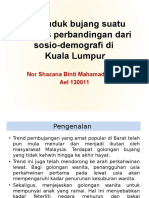 Penduduk Bujang Suatu Analisis Perbandingan Dari Sosio-Demografi Di Malaysia