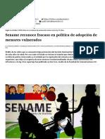 Sename Reconoce Fracaso en Política de Adopción de Menores Vulnerados - El Mostrador