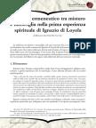 Rossano de Col SJ Il Circolo Ermeneutico Tra Mistero e Meraviglia Nella Prima Esperienza Spirituale Di Ignazio Di Loyola