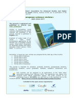 EWA_ENG Infoletter_European Science Review