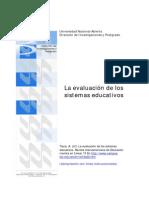 La evaluación de los sistemas educativos