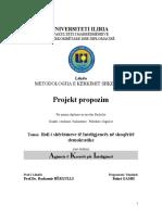 Bahri M.Gashi  Projekt propozim