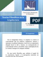 Teorias Filosóficas en la Arquitectura- Concervacion y Restauracion