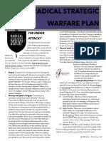 Radical Strategic Warfare Plan by Dr.J.