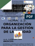 1.5. Organización Para La Gestión de Calidad