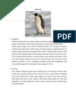 ADAPTASI MORFOLOGI PINGUIN