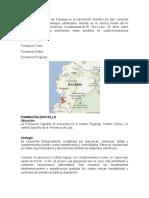 Formaciones Geologica Puyango