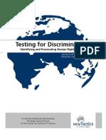 Testing for Discrimination