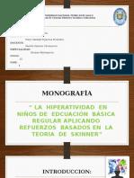 Monografia de Teorias Educativas. I