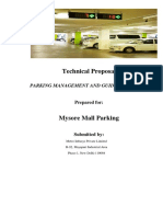 Technical Proposal - Parking- Mysore Mall