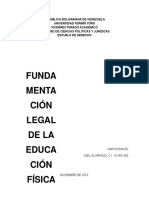Fundamentación Legal de La Educación Física