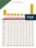 Ubicacion de Paises y Estados Productores de Miel 2015