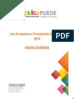 Presupuesto 2015 Version Ciudadana