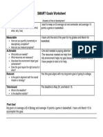 smart goals worksheet  4