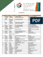 Final Delegate List BioFest 2016