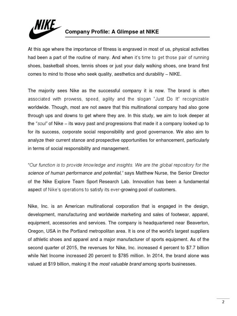 Nike Csr Paper Corporate Governance Nike Nike Governance 07e10e