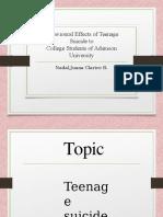 Powerpoint Presentation - Teenage Suicide