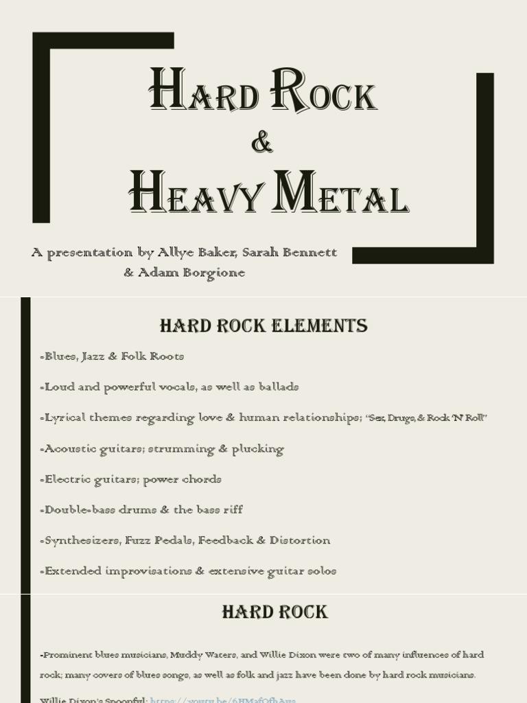 Hard Rock Heavy Metal Pdf Rock Music Heavy Metal Music