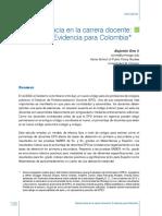 Meritocracia en La Carrera Docente Evidencia Para Colombia